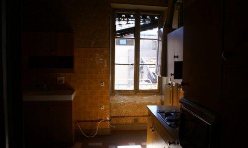Avant Rénovation complète d'un appartement place de Metz Grenoble